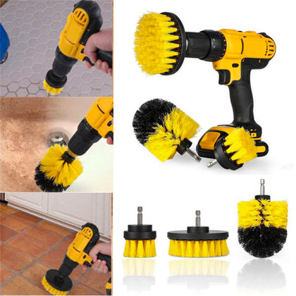 Drill Brushes Set 3pcs Tile Grout Power Scrubber Cleaner Spin Tub Shower Wal - christmasgiftbuy