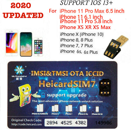 iPhone Unlock Sim Turbo Nano Card for iPhone 11 Pro Max XS 8 7 6S 6 Plus iOS 13 - christmasgiftbuy