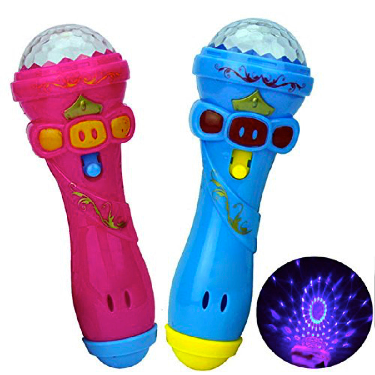 Karaoke Fun Light-Up & Play Toy Microphone- Blue or Pink