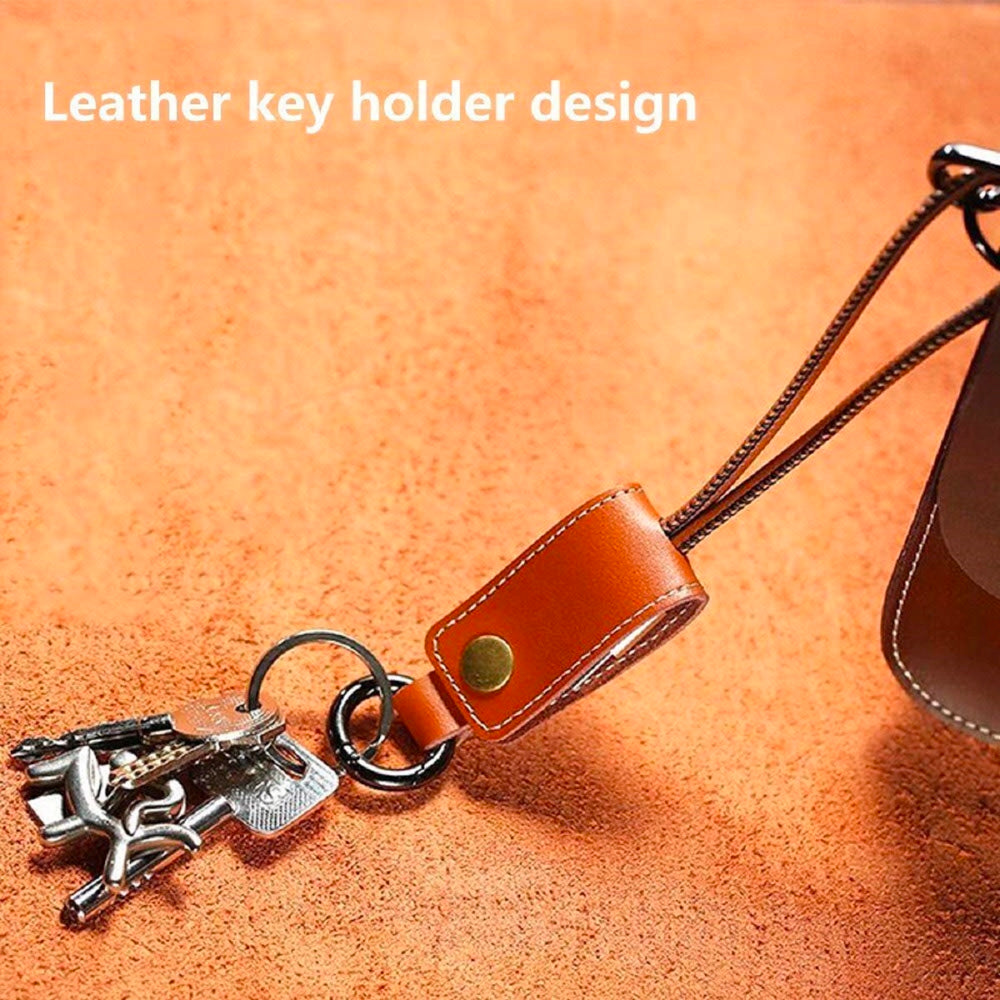 Vegan Leather USB-Charging Key Chain for Apple® Lightning® or Android Devices