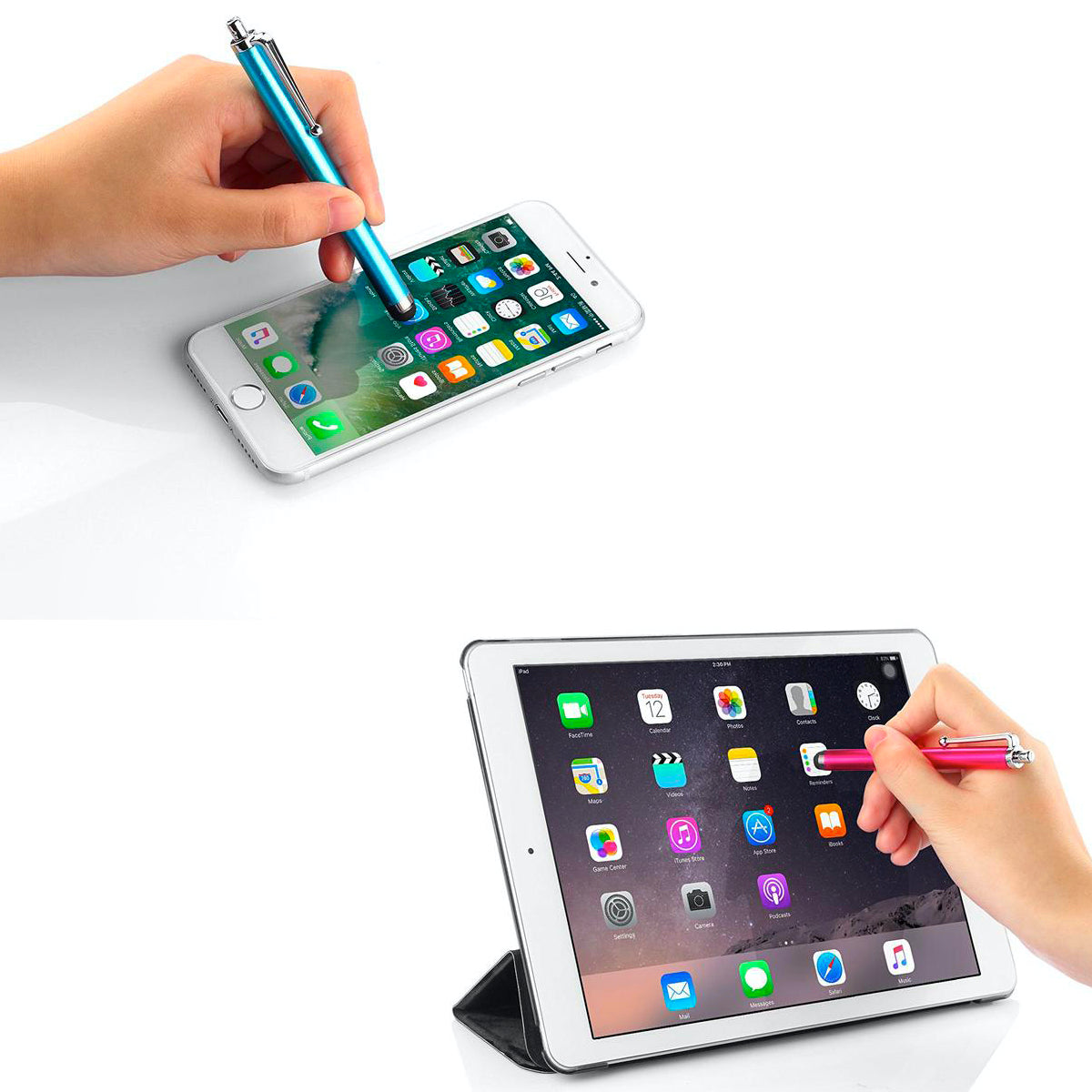 12-Pack: Metal Touchscreen Stylus Pens