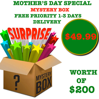 Mother's Day Special Deal Mystery Box only $49.99 Worth of over $200 Free Priority 1-3 Day Shipping
