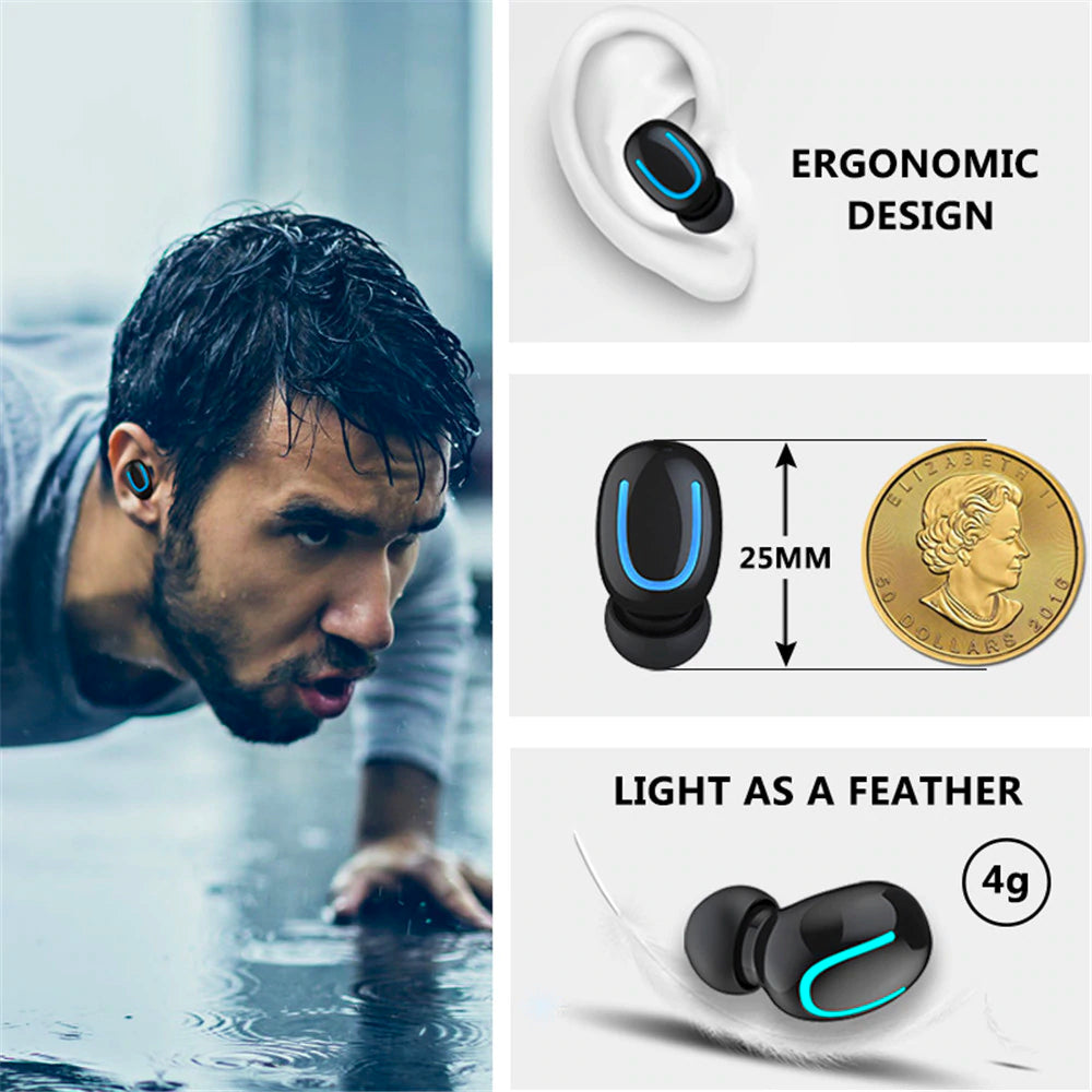 Bluetooth 5.0 True Wireless Built-in Mic TWS Headphones