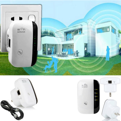 WiFi Blast Repeater Wireless Wi-Fi Range Extender 300Mbps WifiBlast Amplifier US - christmasgiftbuy
