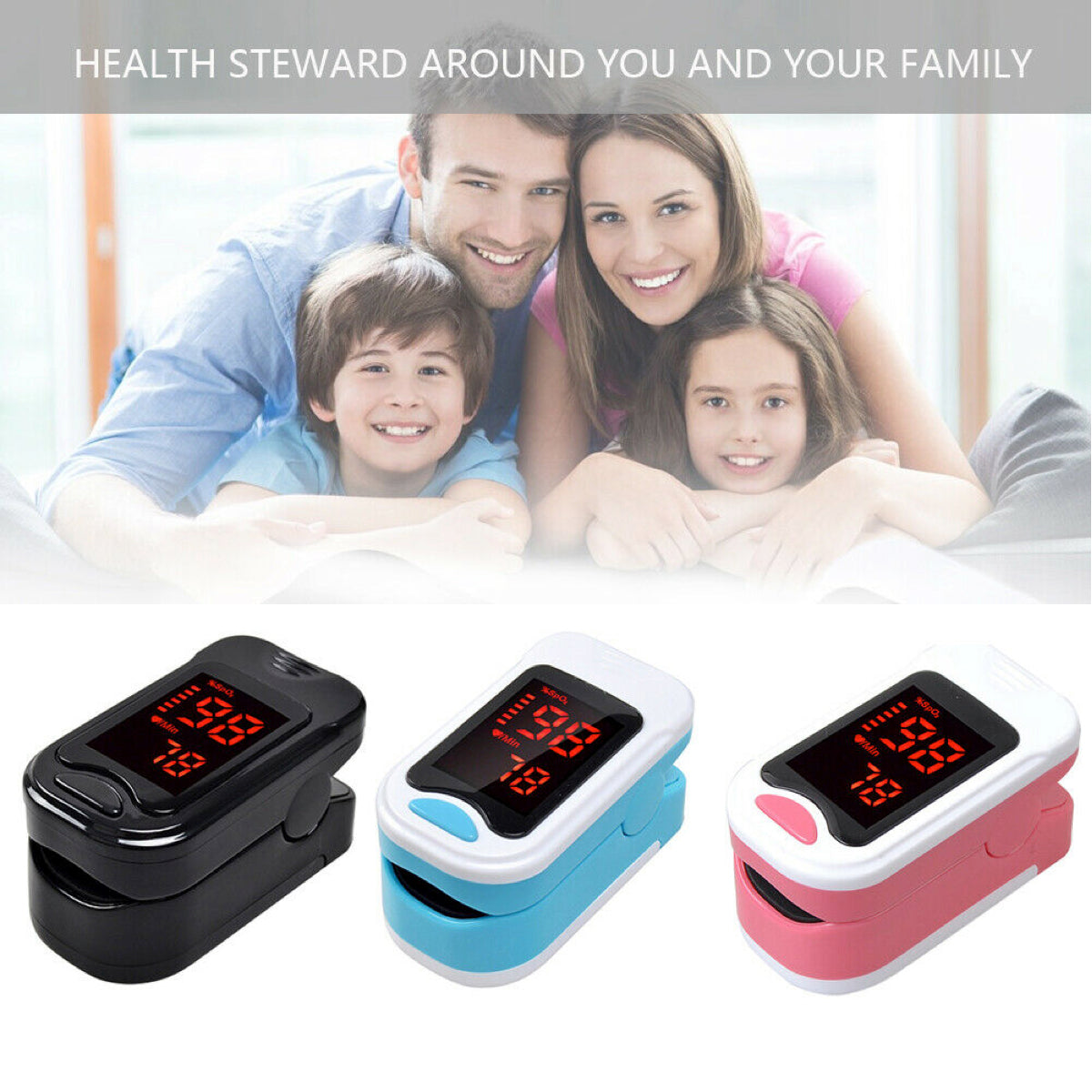 FDA Finger Tip Pulse Oximeter Blood Oxygen meter SpO2 Heart Rate Monitor