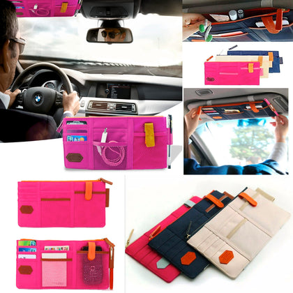 Multipurpose Organizer for Car Sun Visors Bag- Assorted Colors - christmasgiftbuy