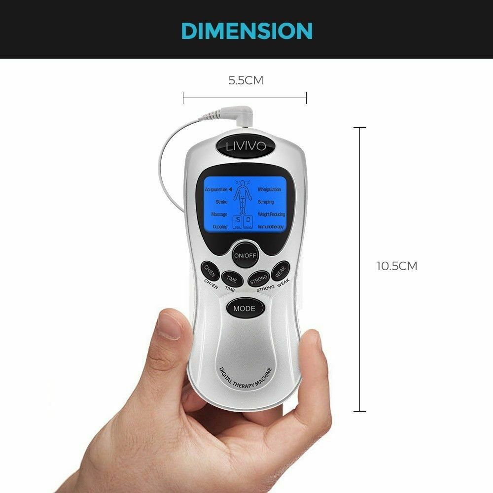8-Mode 8-Pad TENS Unit Electrical Muscle Stimulator Pain Relief Electronic Pulse Massager Kit