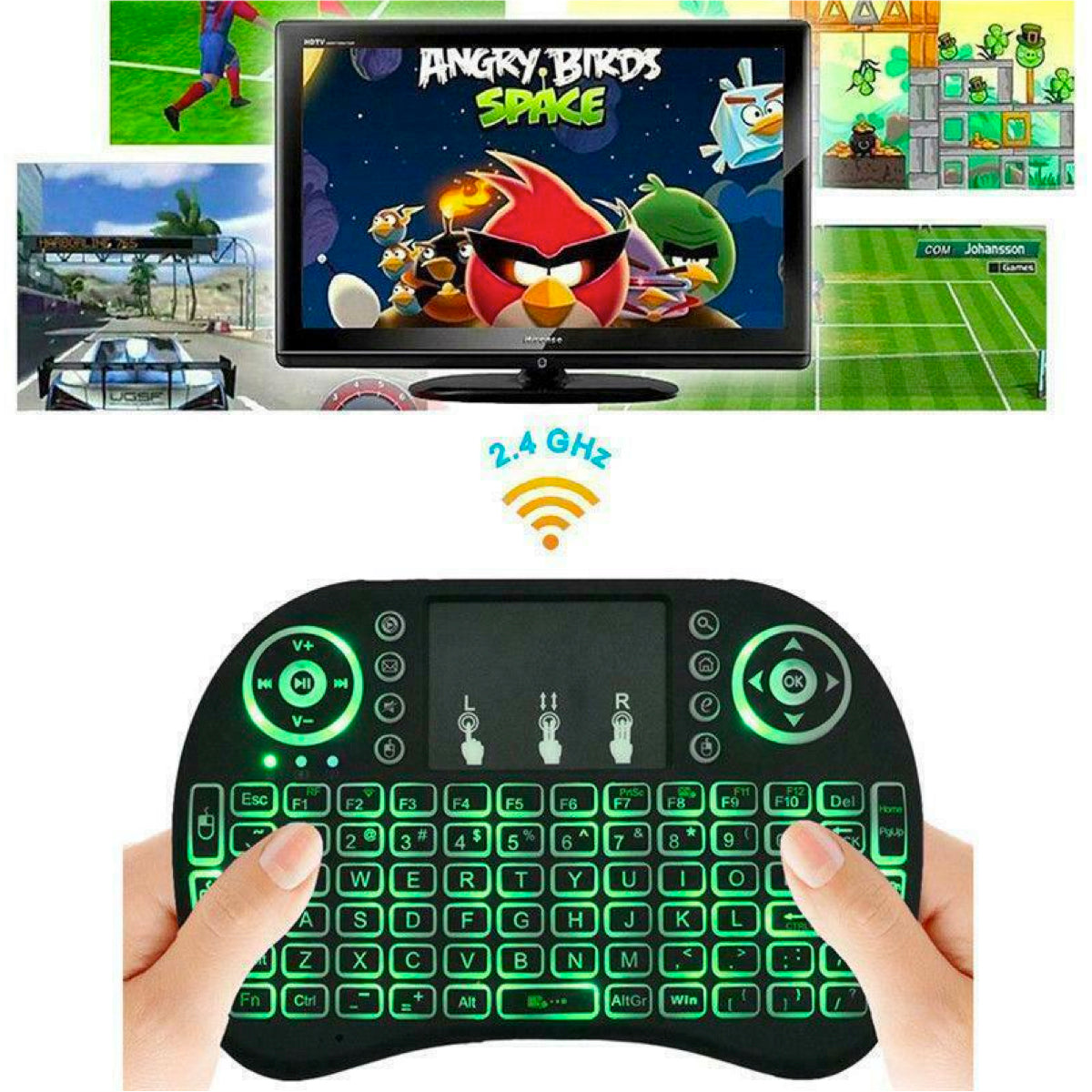 Mini Wireless 2.4GHz Multimedia Keyboard