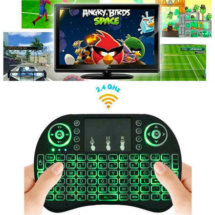 Mini Wireless 2.4GHz Multimedia Keyboard with Touchpad 3 Color changing - christmasgiftbuy
