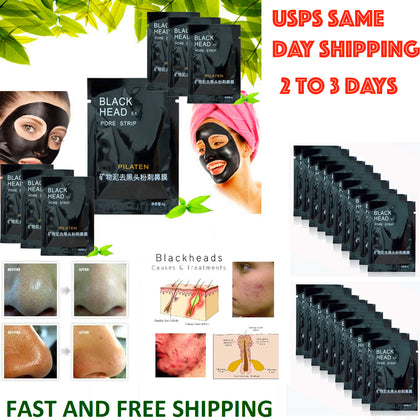 Blackhead Remover-Deep Cleansing Black Mud Mask-Acne Pore Strip Peel