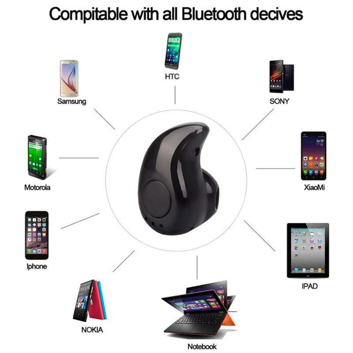 Professional Mini Invisible Wireless Bluetooth Earbud
