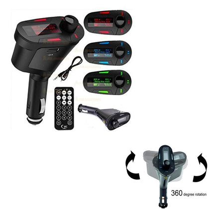 Car Audio Kit with FM Transmitter for MP3 Player & Remote: 3-Piece Set - christmasgiftbuy