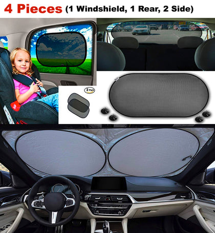 4-Piece Set: Vehicle Window Sun Shades - christmasgiftbuy