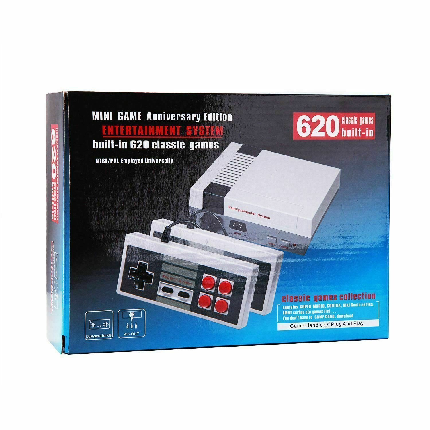 Classic Video Game System with Over 620 Built-In Games Mini