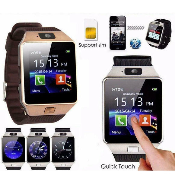 DZ09 Bluetooth Smart Watch Camera Phone GSM SIM For Android iPhone Samsung