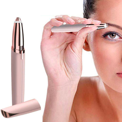 LED Painless Trimmer Electric Eyebrow Facial Hair Remover - christmasgiftbuy