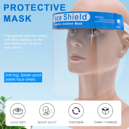 Safety Full Face Shield Clear Glasses Protector Cover