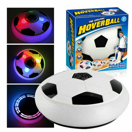 Hovering Soccer Ball Disk Toy with Flashing LEDs and Music - christmasgiftbuy
