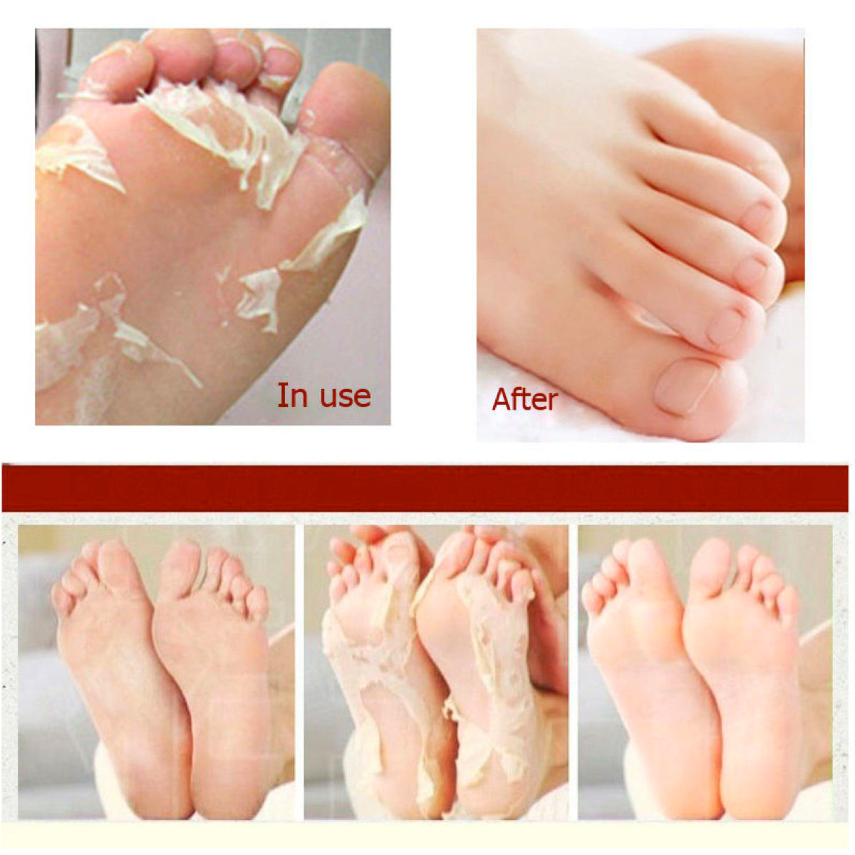 Milk & Bamboo Vinegar Peeling Foot Masks