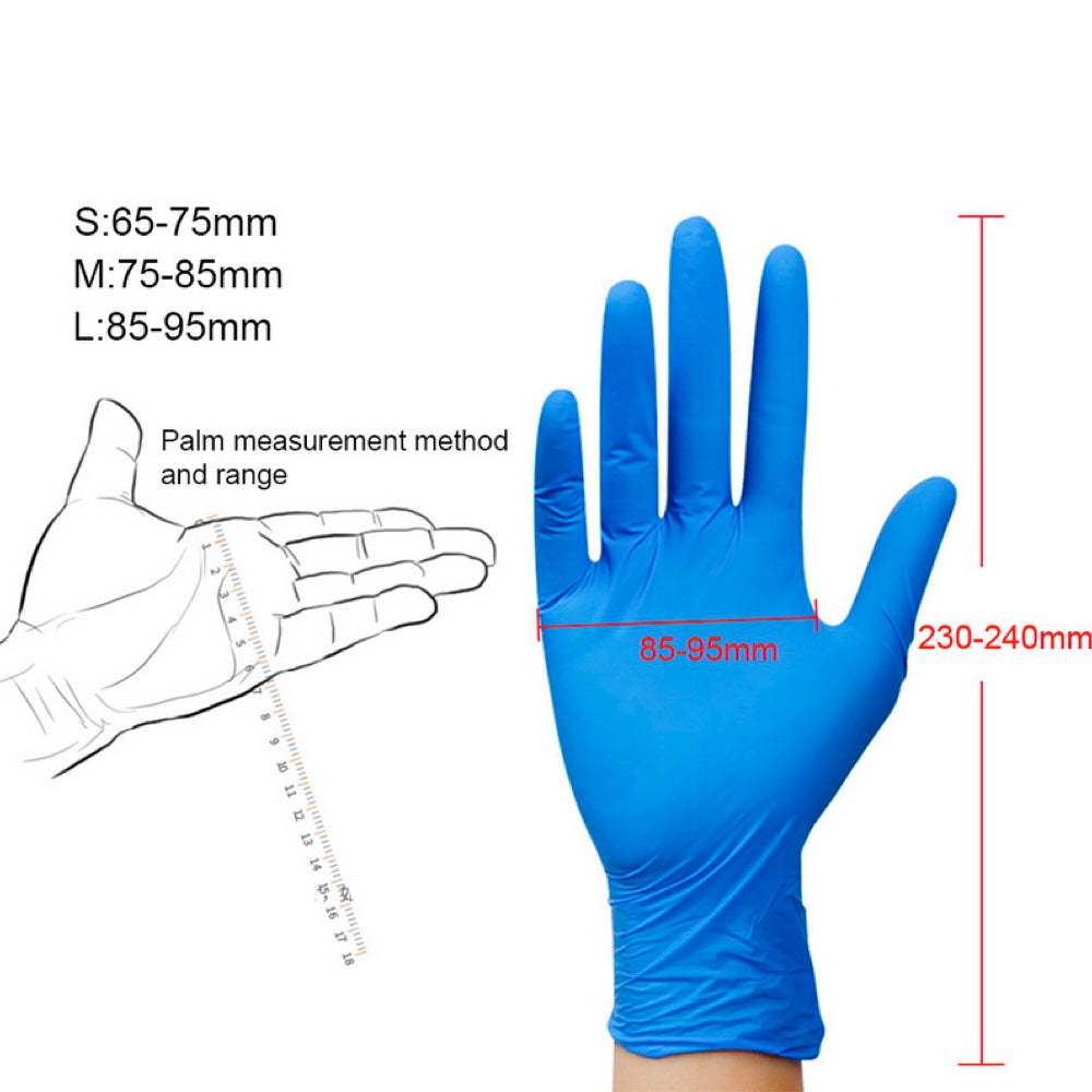 100 PACK DISPOSABLE GLOVES LATEX UNIVERSAL MULTI-USE GLOVES