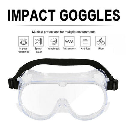Anti-fog and dust-proof goggles workshop laboratory safety accessories arc frame - christmasgiftbuy