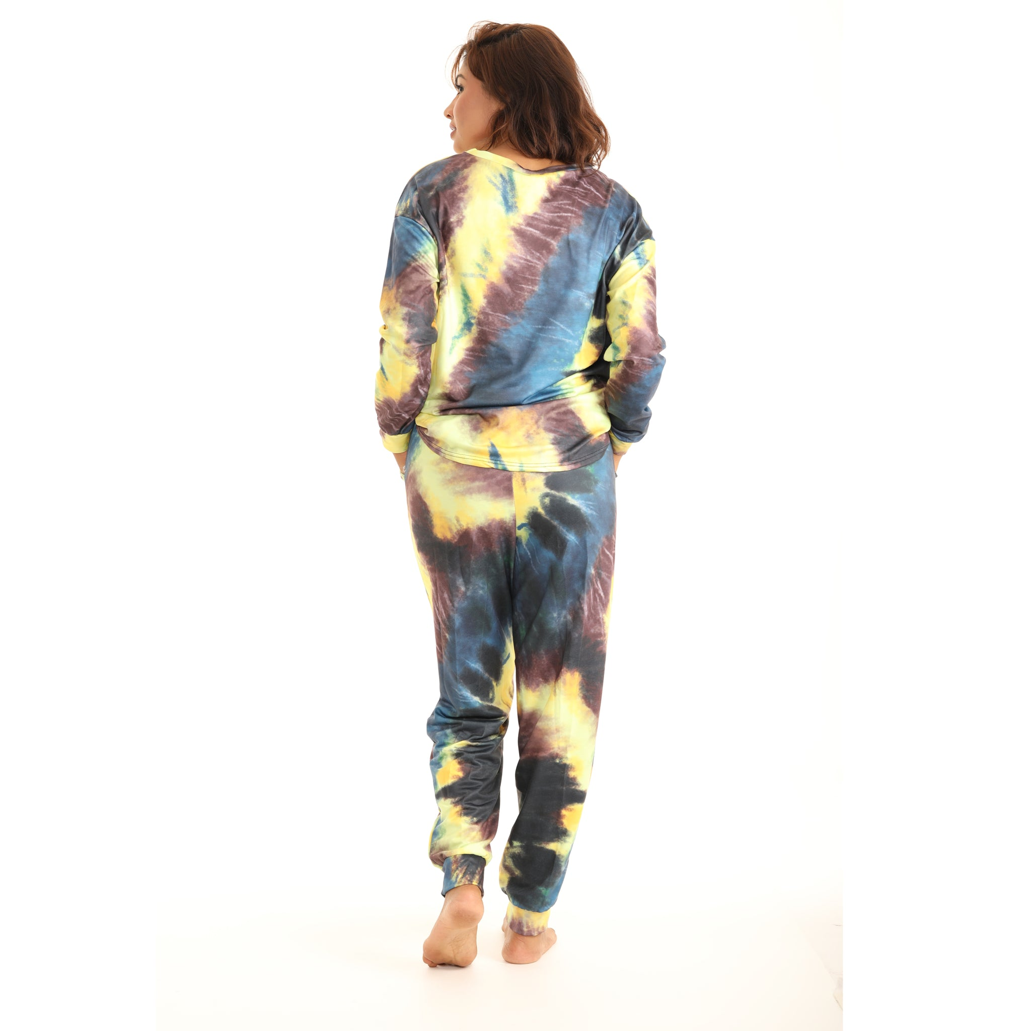 Tie-Dye Long-Sleeve Crewneck Top & Joggers