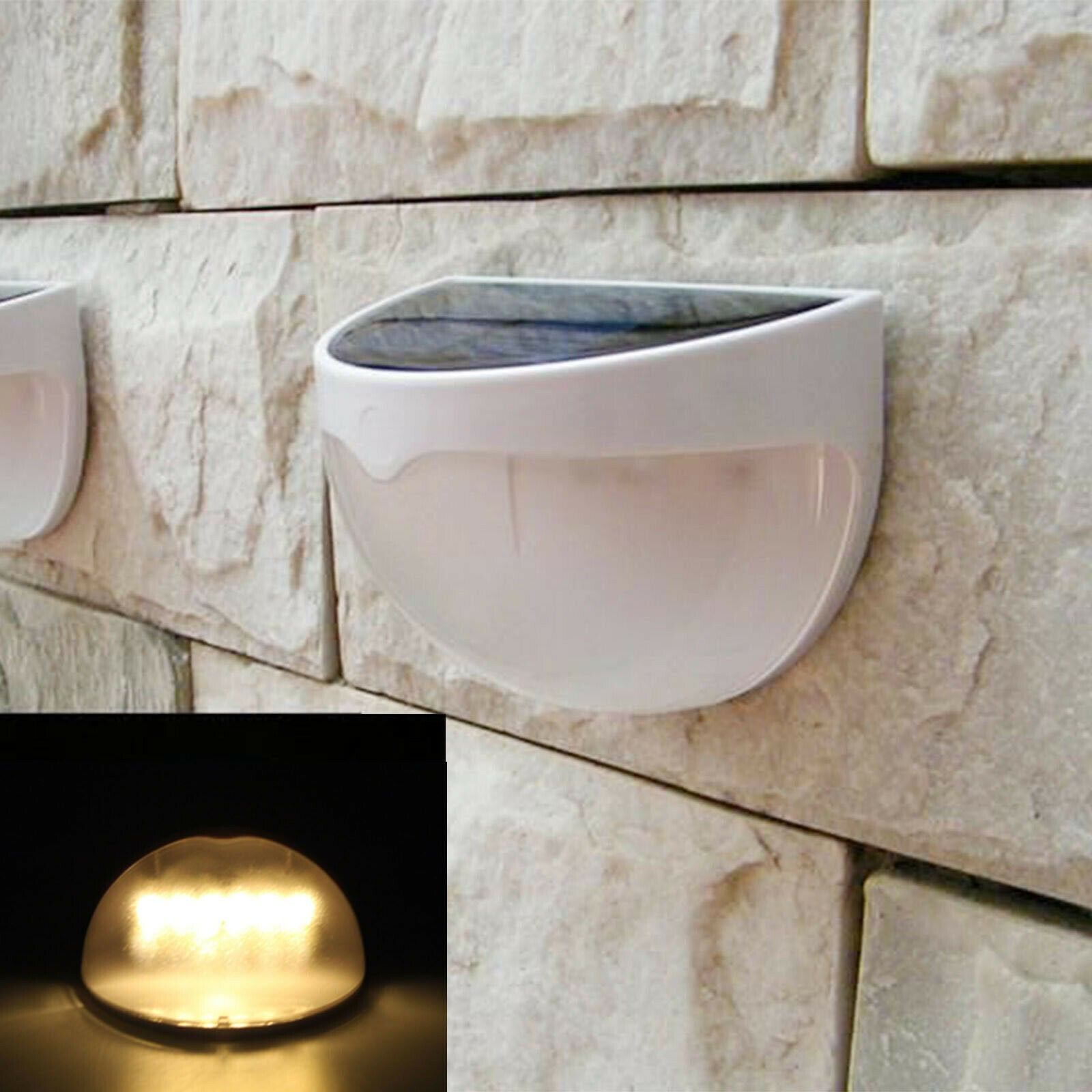 Outdoor Garden Solar Powered Light Gutter Fence Yard LED Wall Mount Solar Lamp