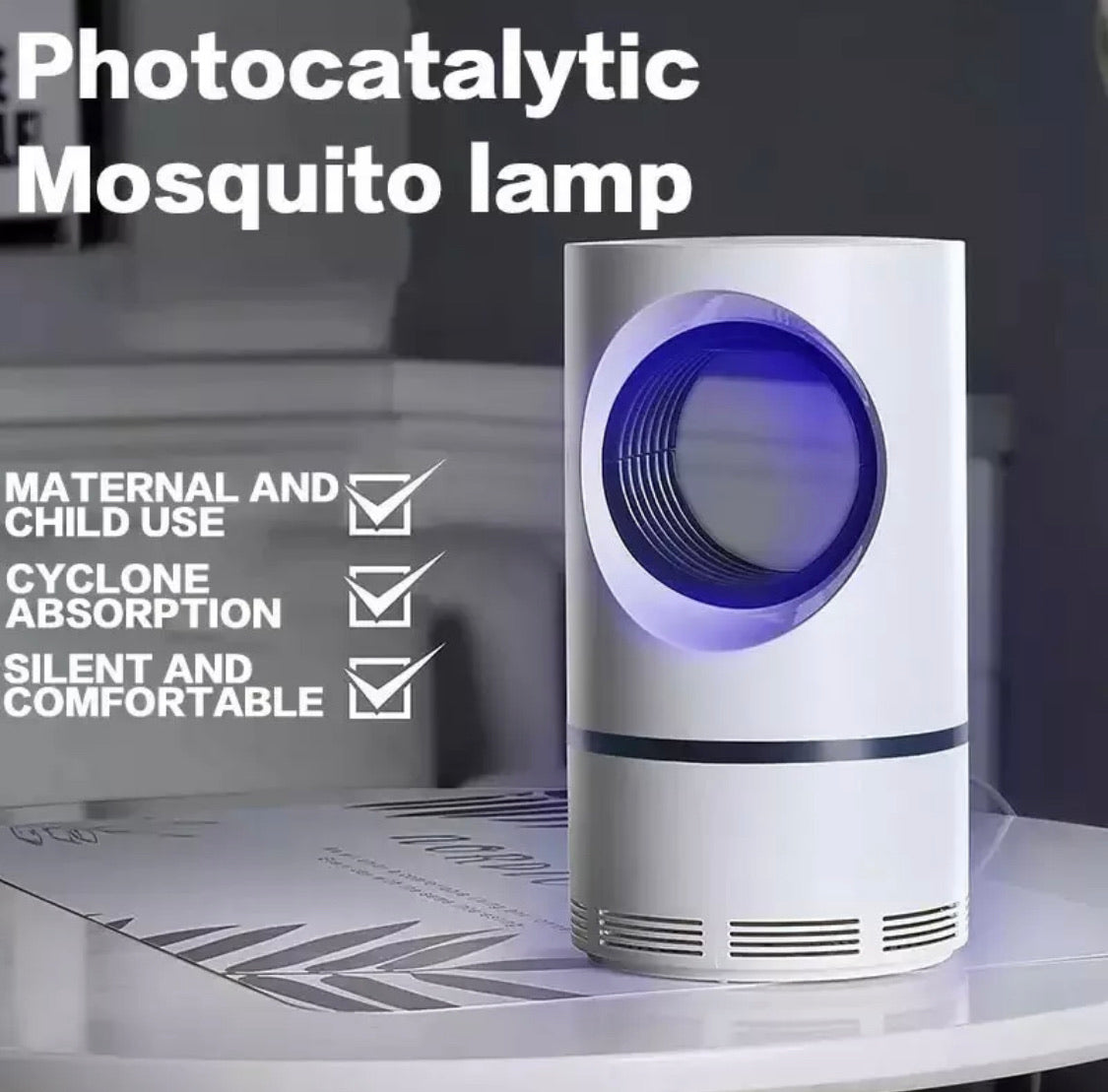 Electric Mosquito Insect Killer Lamp Zapper LED Light Fly Bug Trap Pest Control
