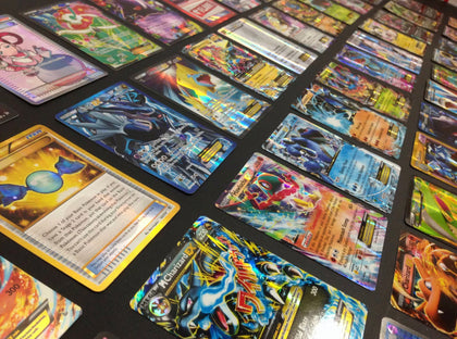 Pokemon Card Lot 100 OFFICIAL TCG Cards Ultra Rare Included - GX EX MEGA + HOLOS - christmasgiftbuy
