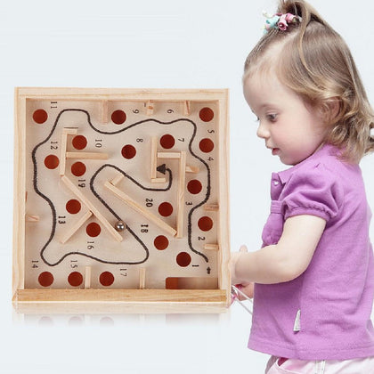 Toddlers' Educational Wooden Ball Maze Game Toy - christmasgiftbuy