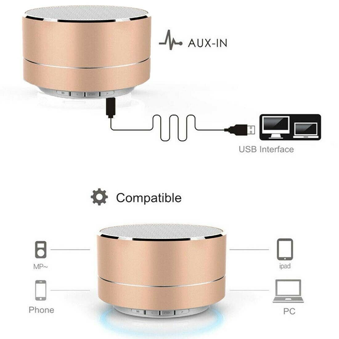Mini Portable Wireless Bluetooth v4.1