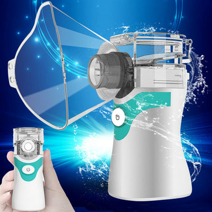 Portable Ultrasonic Nebulize Mist Machine Inhaler Mouthpiece & Mask