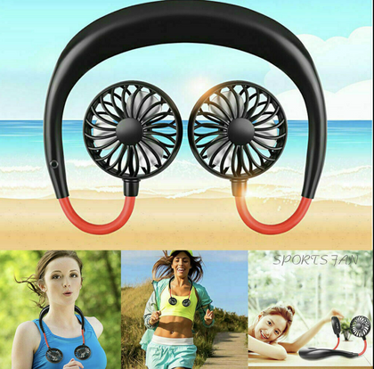 Mini Neckband Lazy Fan Rechargeable - christmasgiftbuy