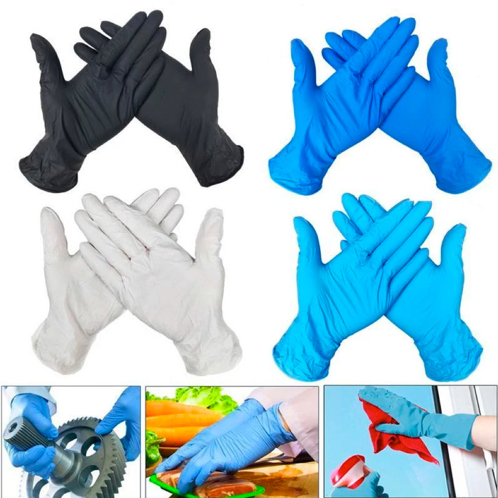100-Pack Disposable Latex Universal Multi-use Gloves