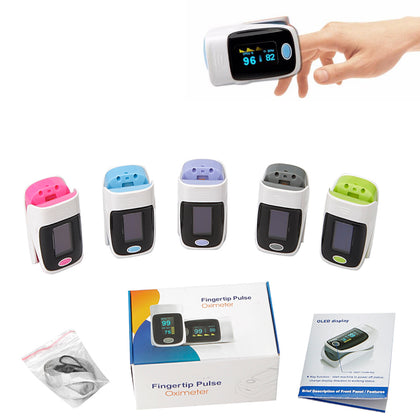 SpO2 & Pulse Fingertip Oximeter with OLED Display - Assorted Colors - christmasgiftbuy