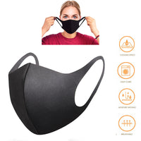 Washable and Reusable Face Cover Double Layers Premium Cotton-Black