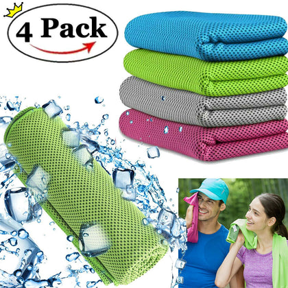 4 Pack Gym Cooling Towel