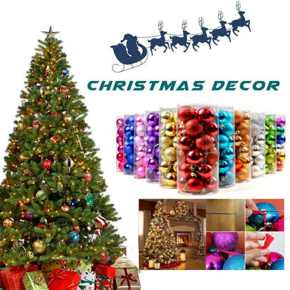 24 Pcs Christmas Tree Balls For Home Party Decoration