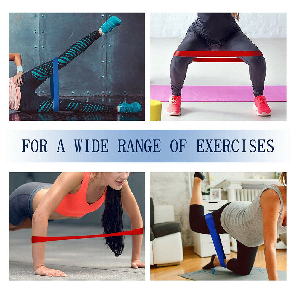 Set of 5 Workout Resistance Loop Band For Yoga