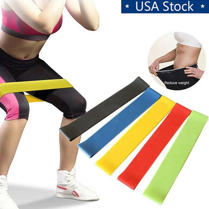Set of 5 Workout Resistance Loop Band For Yoga - christmasgiftbuy