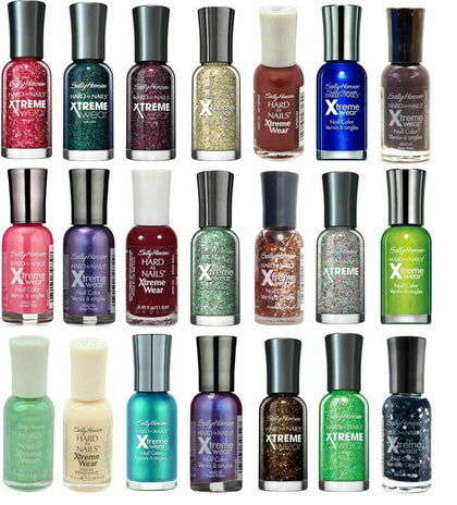 Sally Hansen Nail Polish Hard As Nails Xtreme Wear Nail Polish - 0.4oz Each (3 & 6 Pack)