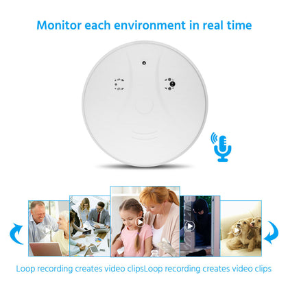 1080P Mini Spy HD Camera Hidden Smoke Detector Motion Detection Nanny Cam DVR - christmasgiftbuy