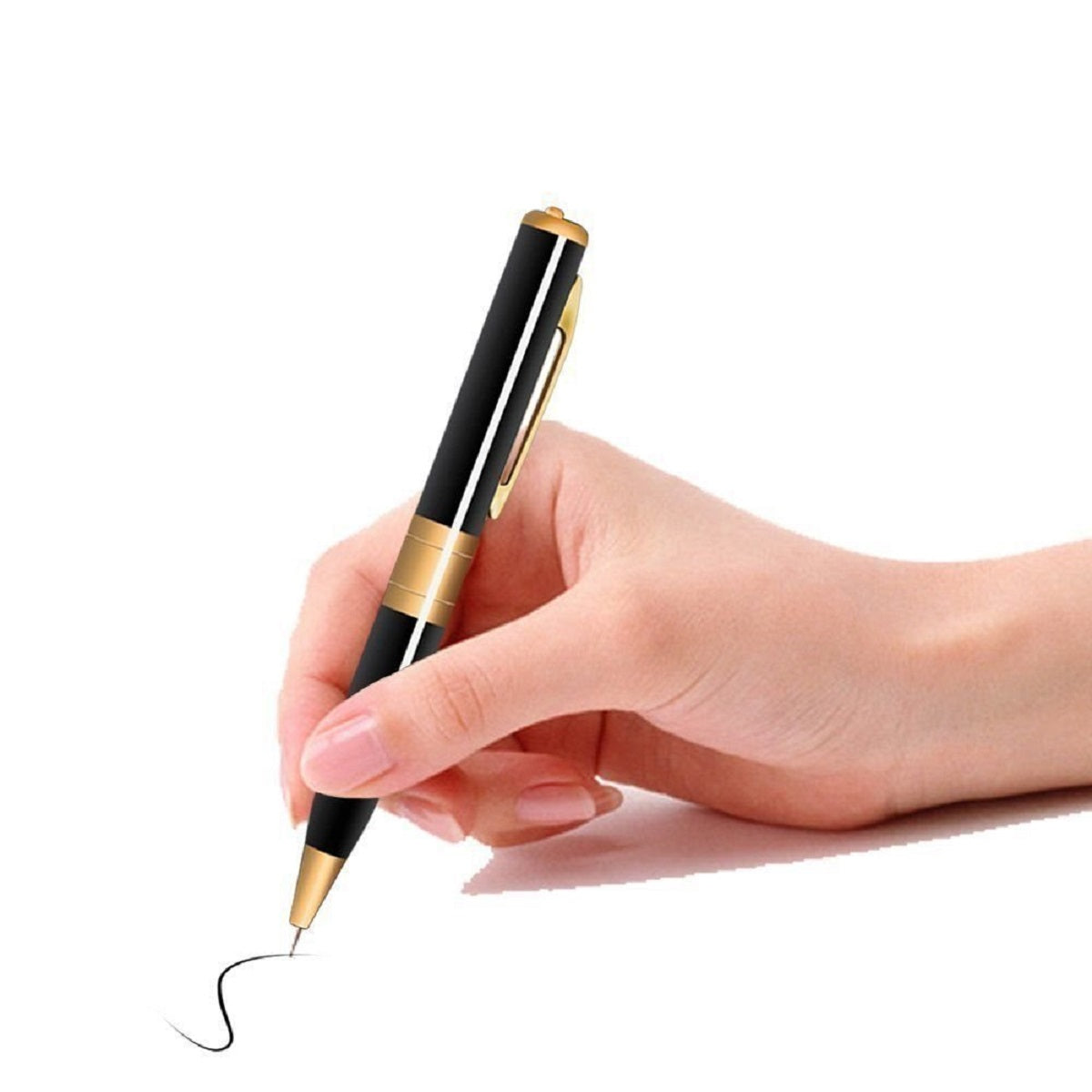 Sound-Recording Spy Pen with Hidden HD Surveillance Camera