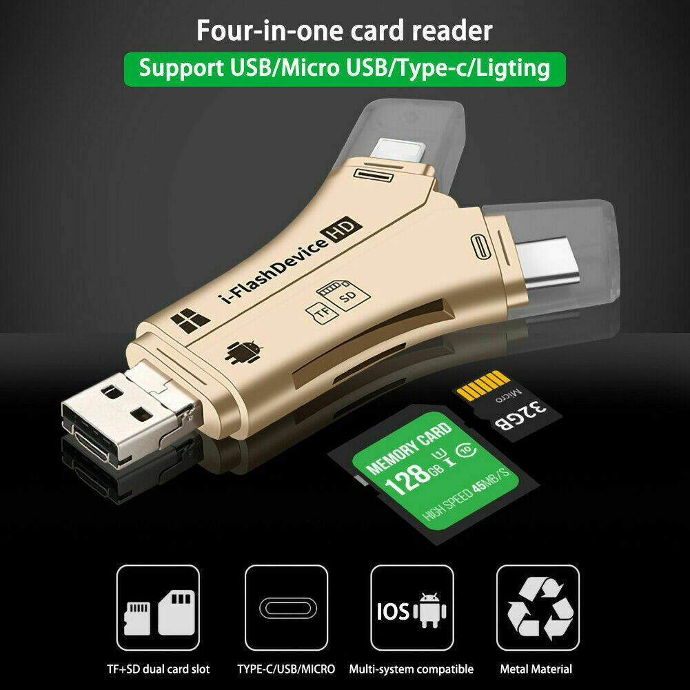 USB Micro SD&TF Card Reader Adapter