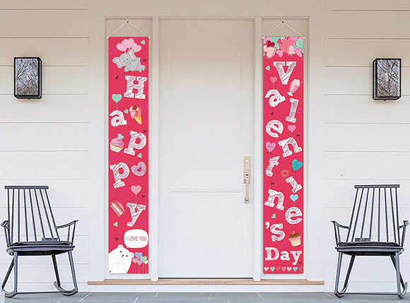 Valentines Day Decorations Door Banners wall decor 2 PCS Set