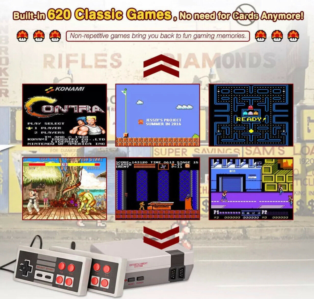 Over 620 Built-In Games Mini Classic HDMI Game Console
