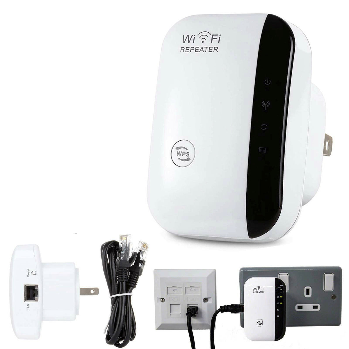 WiFi Blast Repeater Wireless Wi-Fi Range Extender 300Mbps WifiBlast Amplifier US