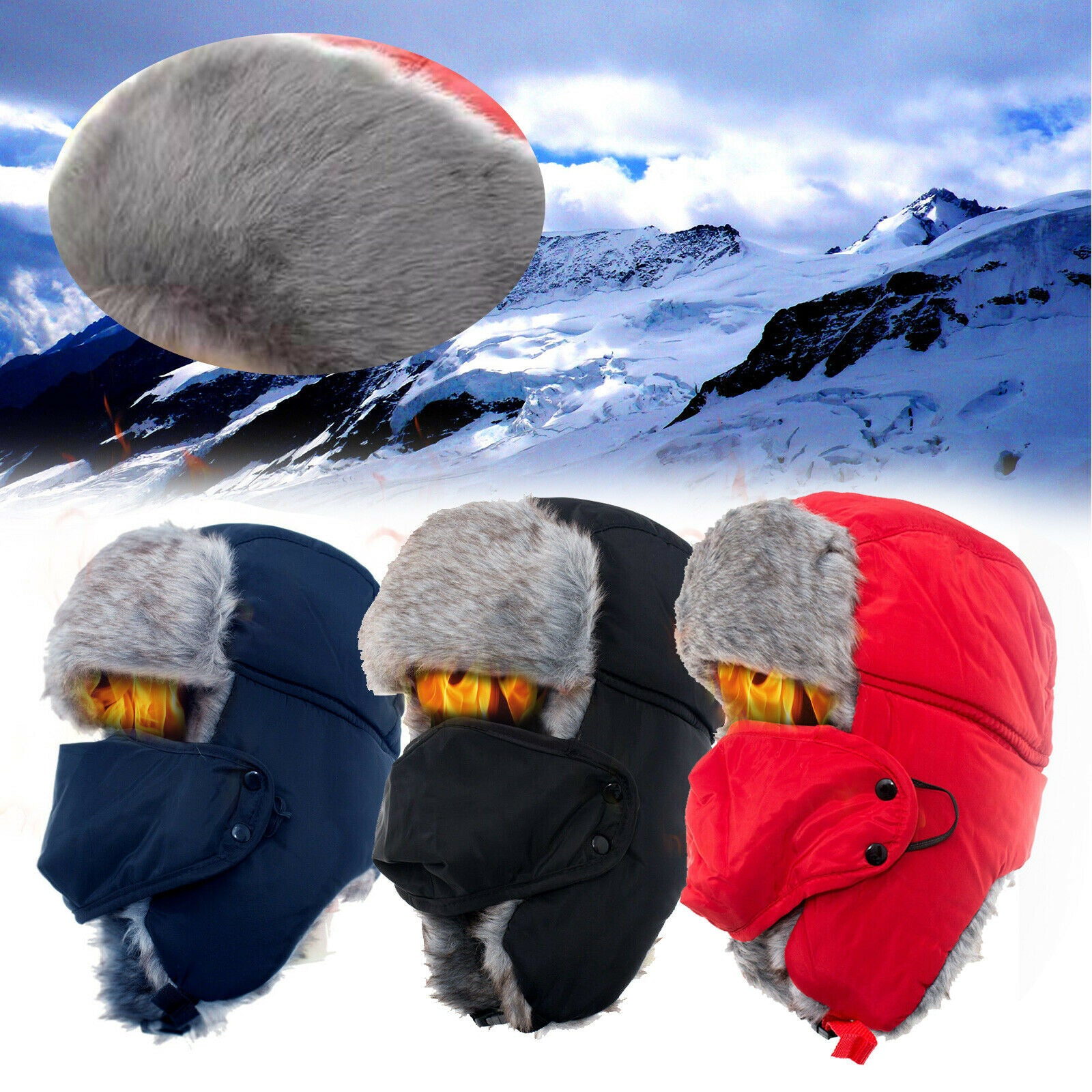Unisex Maximum-Coverage Winter Trooper Hat - Assorted Colors