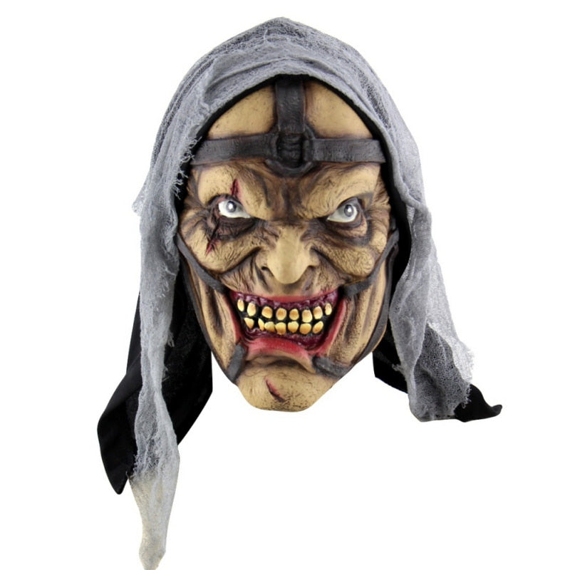 Halloween Latex Mask Horrifying Mask Latex Mask With Hat For Masquerade Halloween Costume Party Bar Realistic
