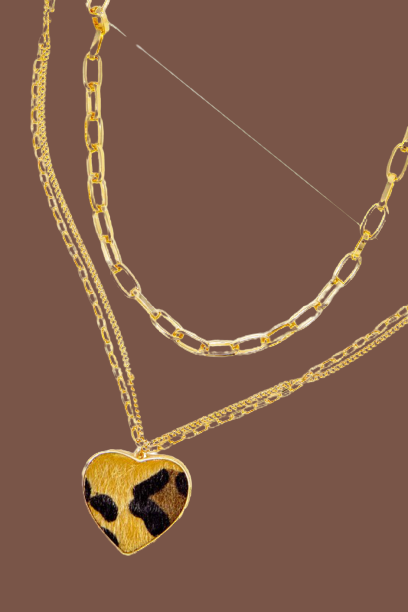 The Leopard Heart Necklace - Sweet Teens Shop